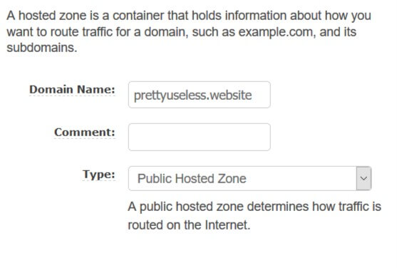 Cloudfront creating hosted zone